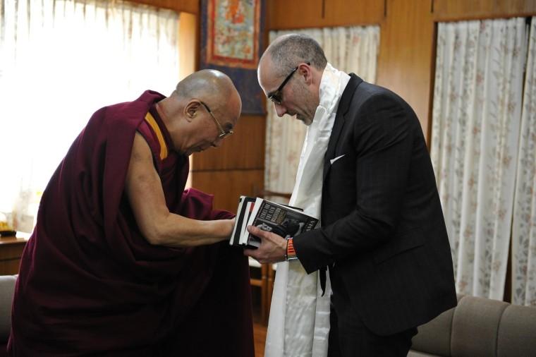 Head of AEI, Arthur Brooks, meets with the Dalai Lama in India.