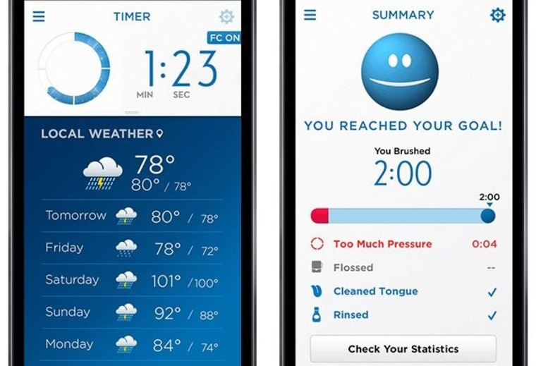Oral-B Toothbrush App Shows Weather and News While You Clean