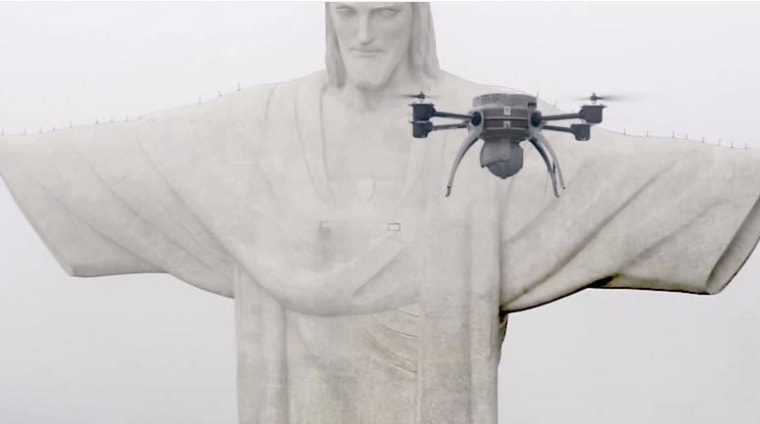 Drone Brazil Christ the Redeemer