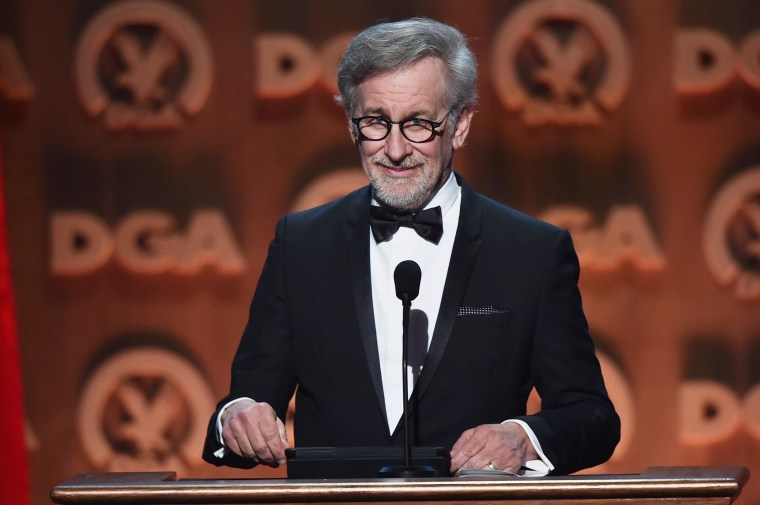 Director Steven Spielberg speaks onstage at the 67th Annual Directors Guild Of America Awards.