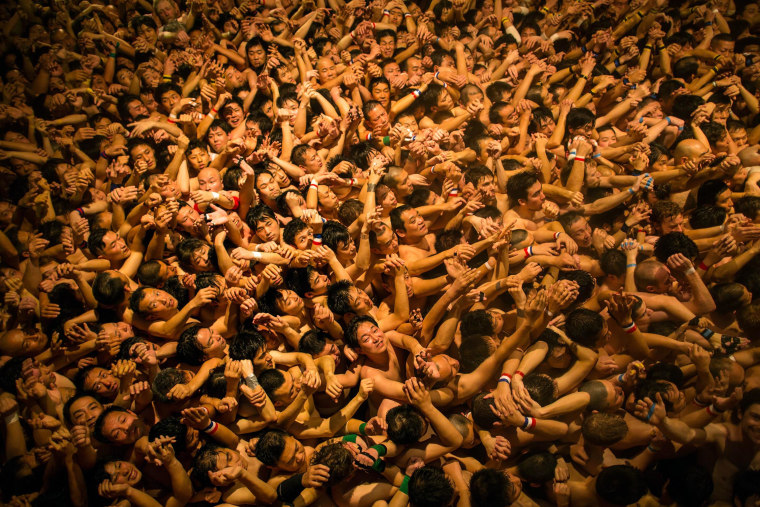 Image: Naked Festival Takes Place At Saidaiji Temple