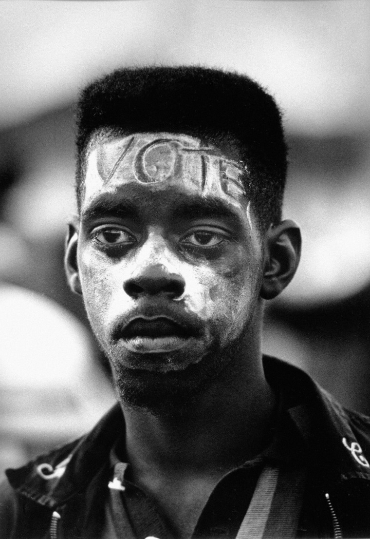Young Man at the Selma to Montgomery Civil Rights March