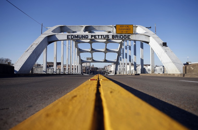 Image: The Edmund Pettus Bridge is seen in Selma