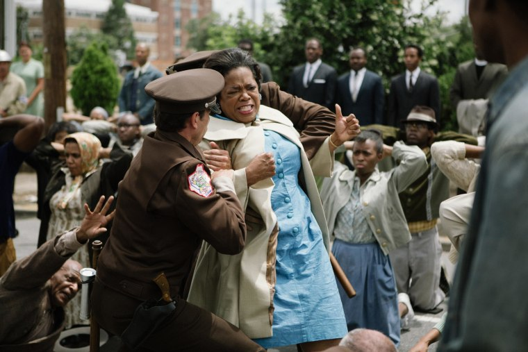 Oprah Winfrey (center) plays Annie Lee Cooper in SELMA, from Paramount Pictures, Pathé, and Harpo Films.