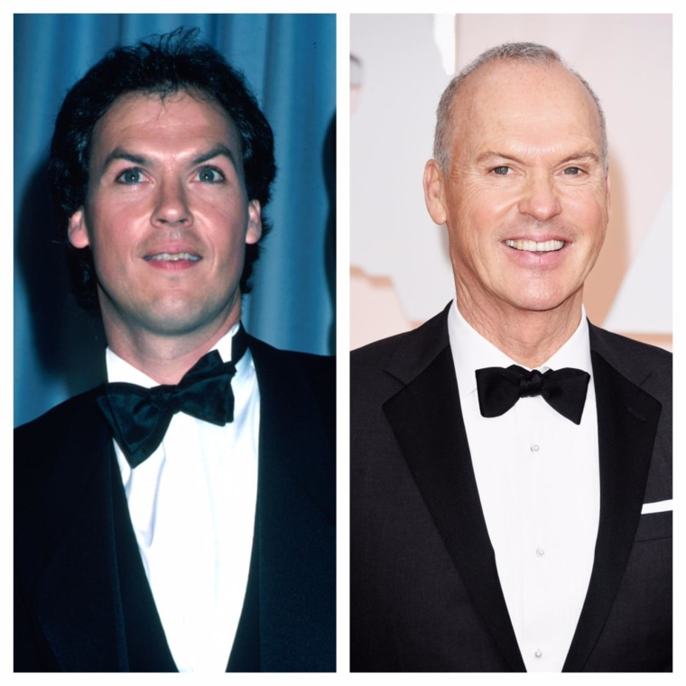 Michael Keaton in 1983 and 2015.