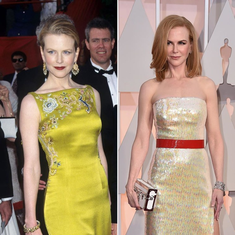Nicole Kidman in 1997 and 2015