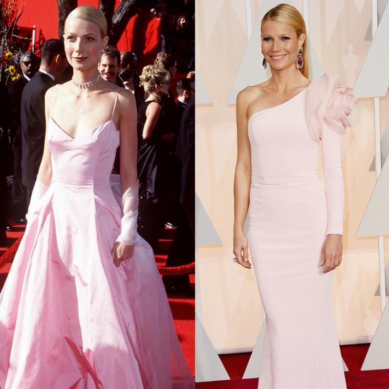 Gwyneth Paltrow in 1999 and 2015.