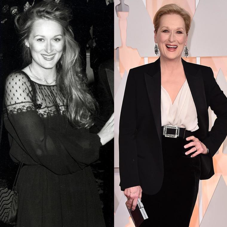 Meryl Streep in 1979 and 2015.
