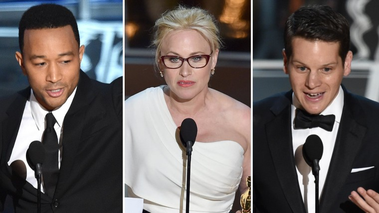 John Legend, Patricia Arquette and Graham Moore were among those who wowed Sunday night.