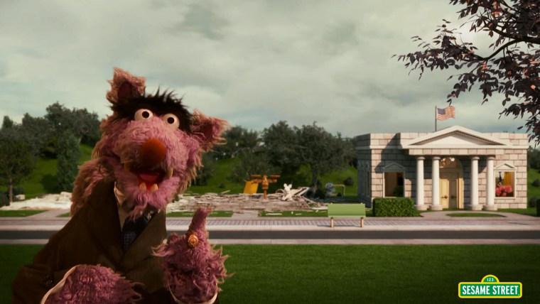 """Sesame Street"" parodies Netflix's ""House of Cards"" in ""House of Bricks."""