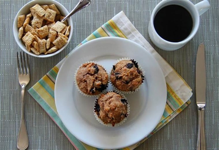 Shredded wheat blueberry muffins