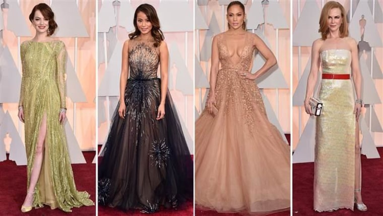 From left: Emma Stone, Jamie Chung, Jennifer Lopez and Nicole Kidman