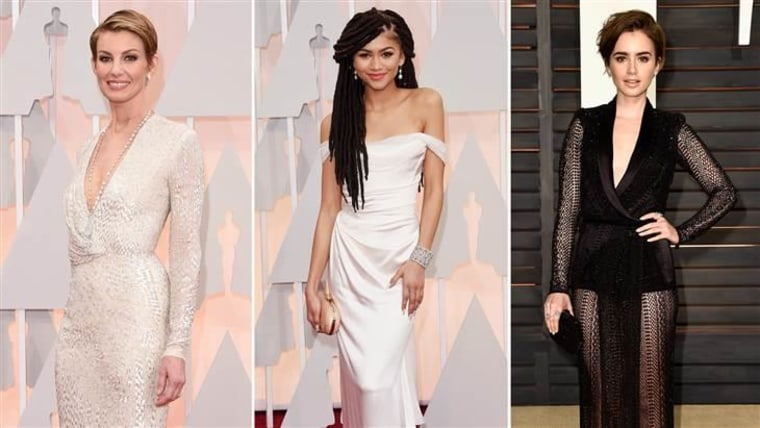 From left: Faith Hill, Zendaya and Lily Collins