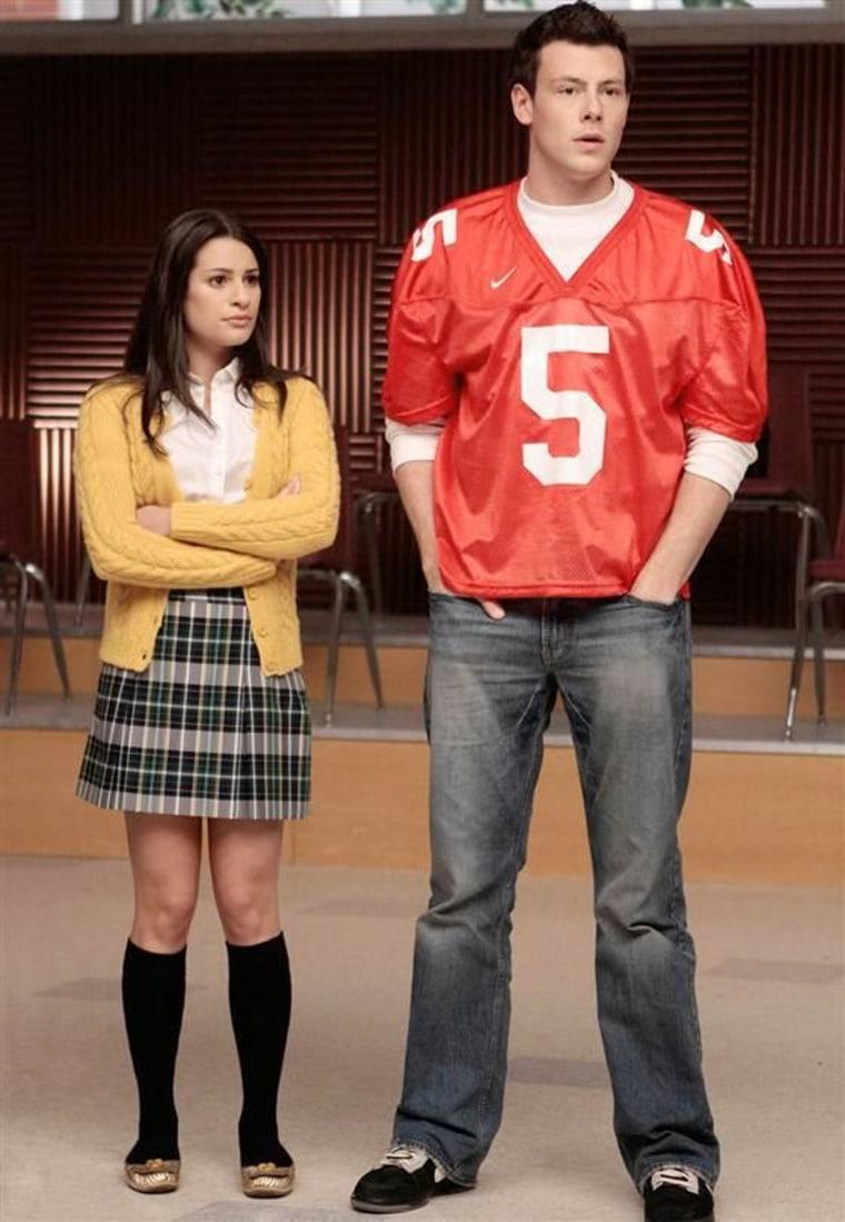 Image: Lea Michele, and Cory Monteith