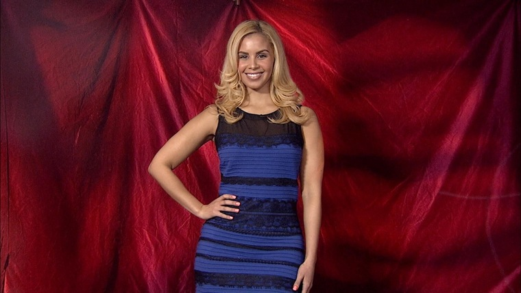 The dress .... is actually blue and black!