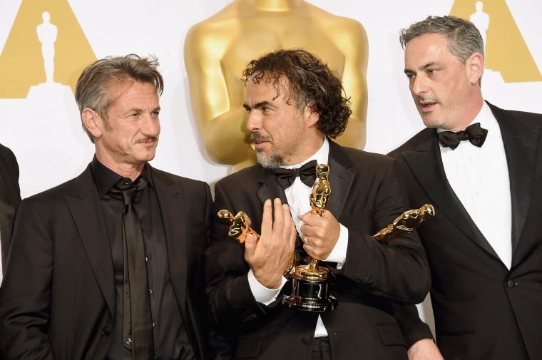 Image: Sean Penn, Alejandro Gonzalez Inarritu, John Lesher
