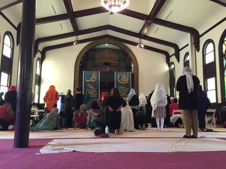 Jumma prayer services at the Women's Mosque in downtown Los Angeles.
