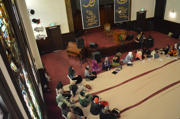 The Women's Mosque is housed in the Pico Union Project in Los Angeles, which offers space for congregations of various faiths.
