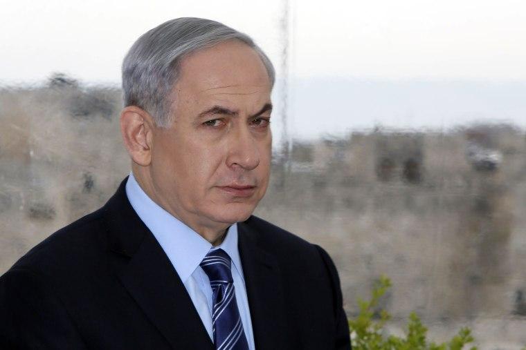 Image: Benjamin Netanyahu on Feb. 23