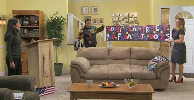 """A scene from Aasif Mandvi's new web series \""""Halal in the Family.\"""""""