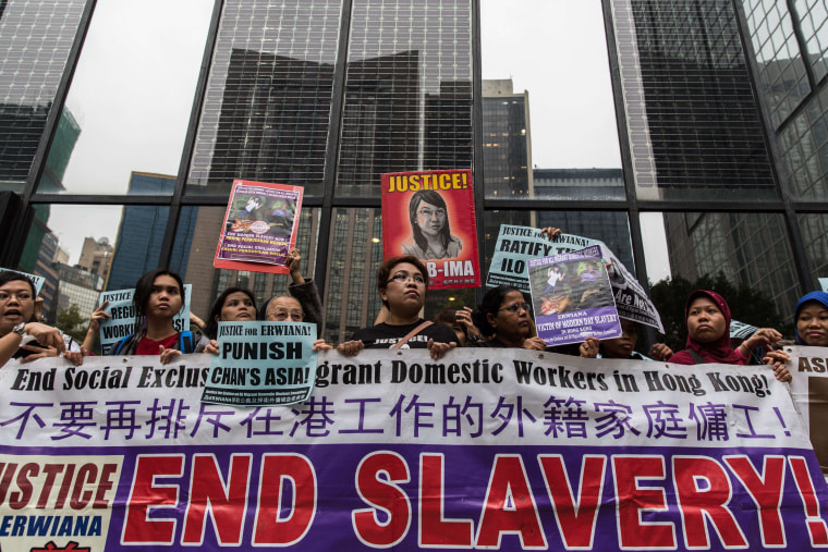 Image: HONG KONG-INDONESIA-LABOUR-JUSTICE-TRIAL