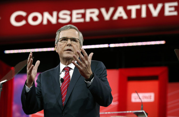 Image: Jeb Bush speaks at the Conservative Political Action Conference in Maryland
