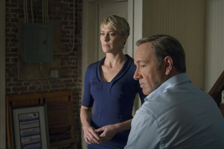 """Robin Wright as Claire Underwood, Kevin Spacey as Francis Underwood in a scene from """"House of Cards."""""""
