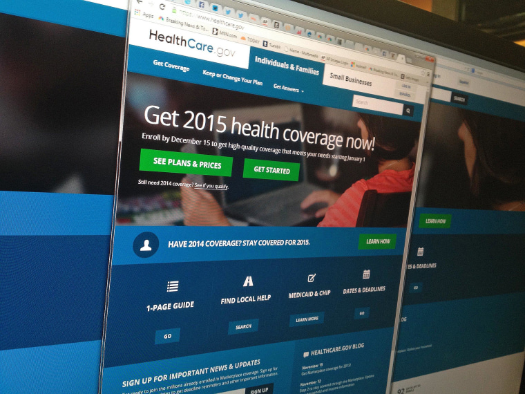 The HealthCare.gov website after it relaunched on Nov. 15, 2014.