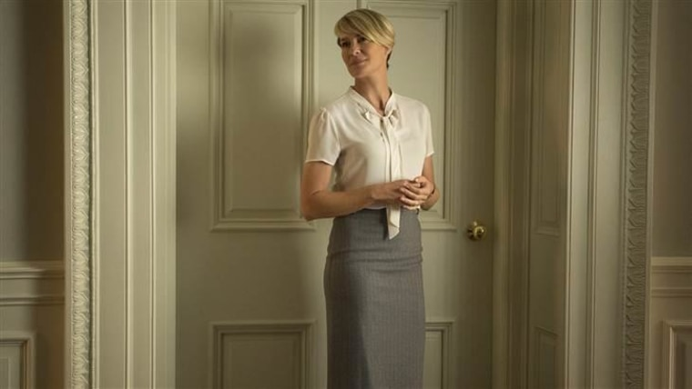 "Robin Wright in Season 3 of Netflix's ""House of Cards."""