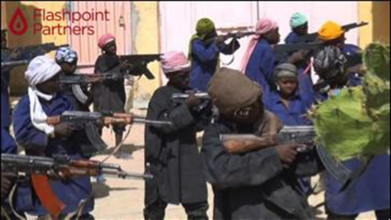 Image: Photo purportedly showing Boko Haram training camp for child soldiers
