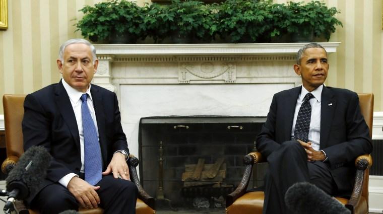Image: U.S. President Barack Obama meets with Israel's PM Benjamin Netanyahu at the White House in Washington