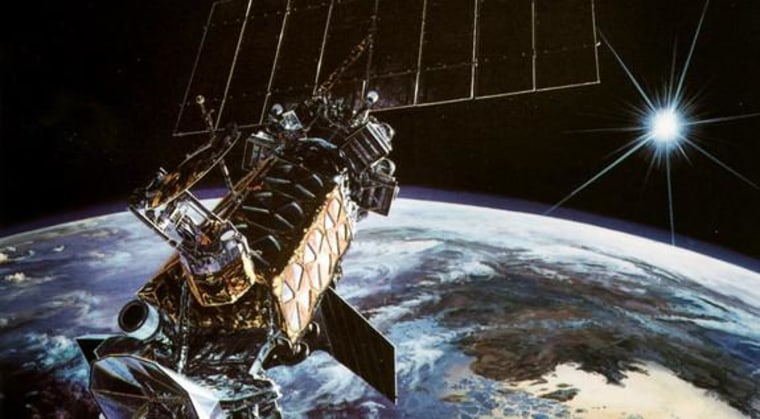 Image: Artist's concept of a Defense Meteorological Satellite System military weather spacecraft