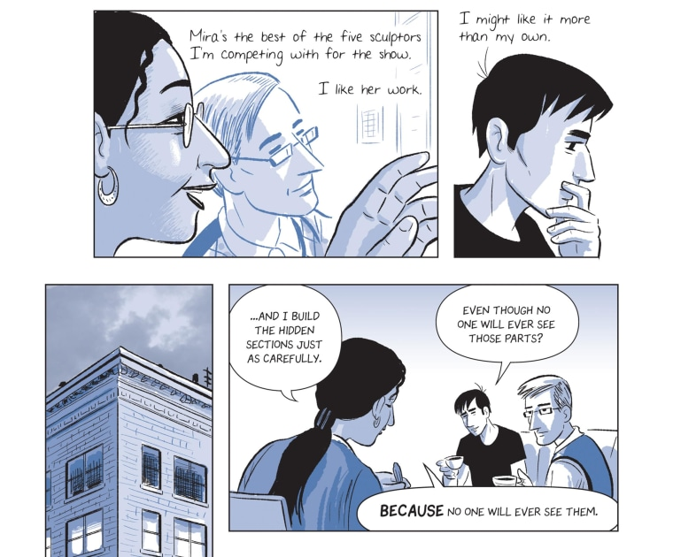 "Image: Page sample from graphic novel ""The Sculptor"""