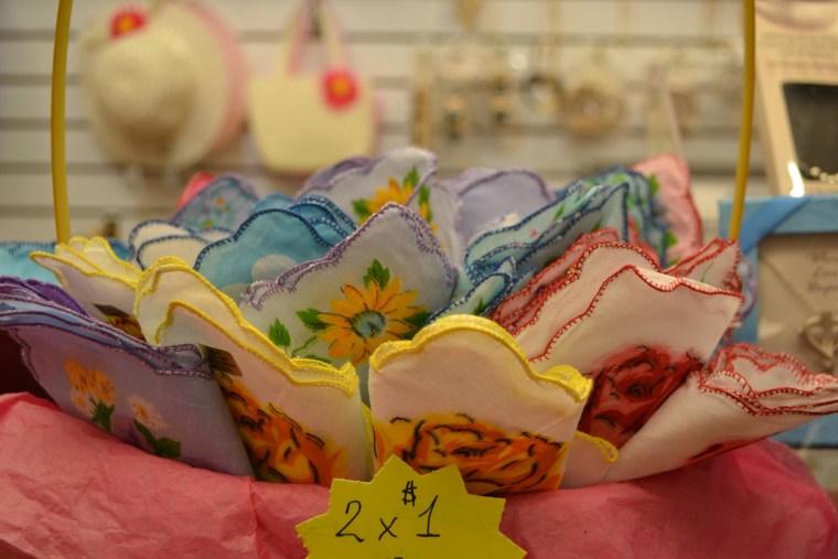 Image: Handkerchiefs in a basket