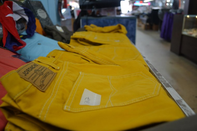 Image: Mustard yellow uniform pants