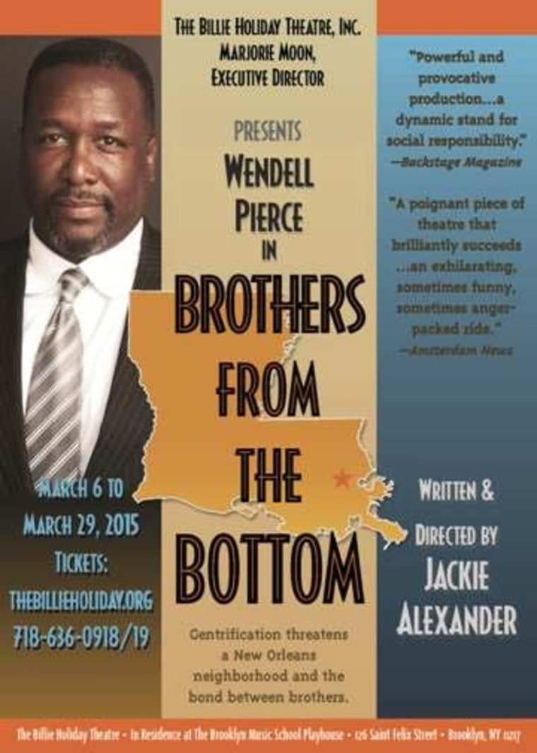"""Wendell Pierce stars in new play, """"Brothers From The Bottom."""""""
