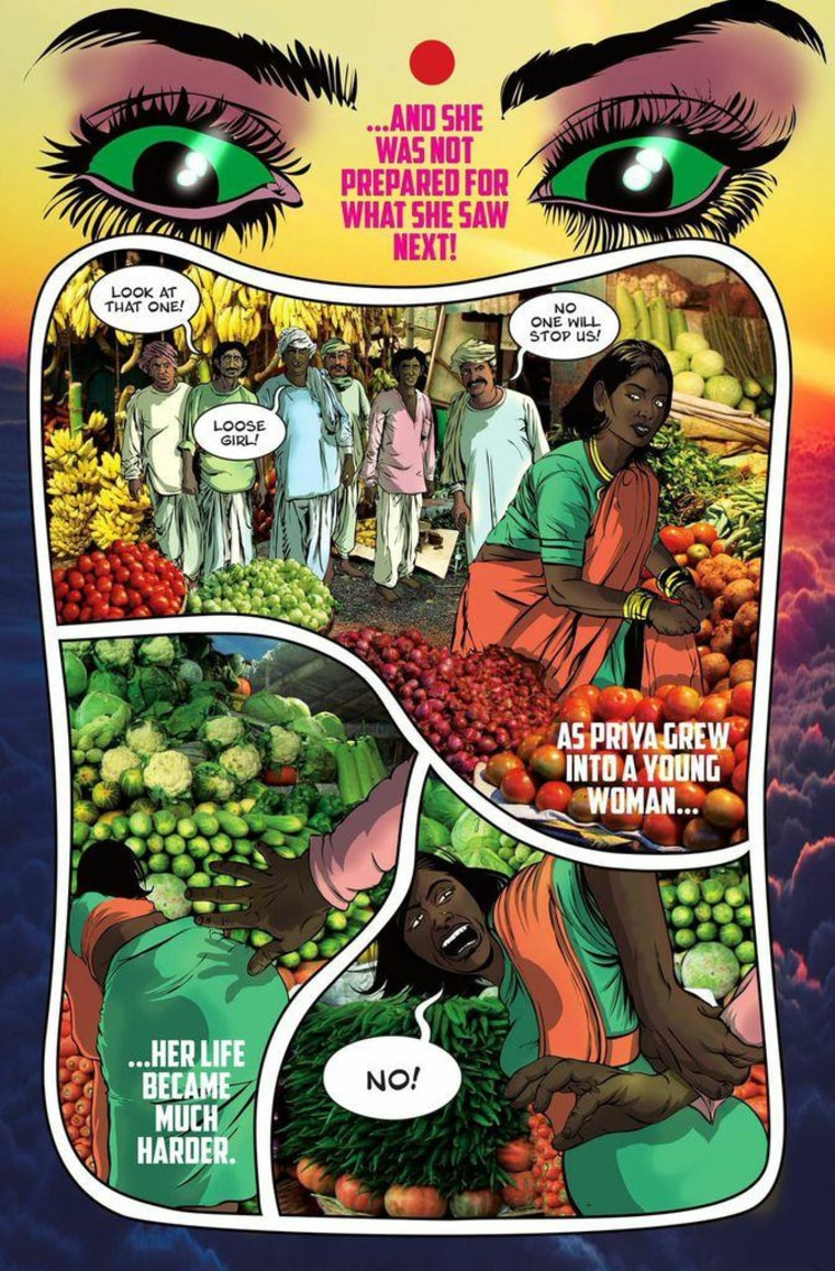 Devineni interviewed rape survivors in India before creating his main character for the comic.