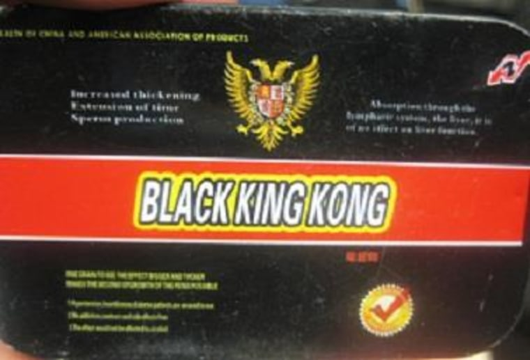 The Food and Drug Administration (FDA) is advising consumers not to purchase or use Black King Kong, a product promoted for sexual enhancement. This product was identified by FDA during an examination of international mail shipments.