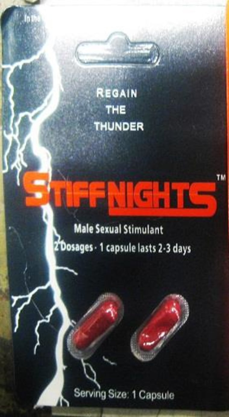 The Food and Drug Administration (FDA) is advising consumers not to purchase or use Stiff Nights, a product promoted for sexual enhancement. This product was identified by FDA during an examination of international mail shipments.