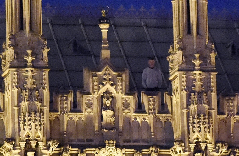 Image: Man spotted on the Houses of Parliament