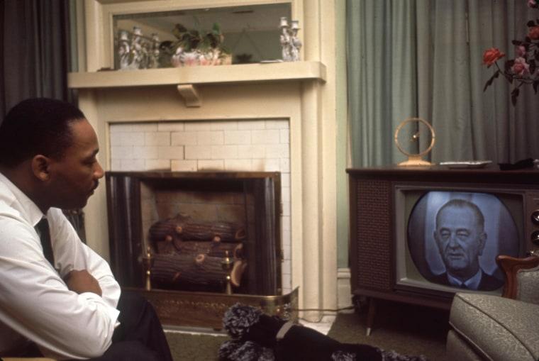 MLK Watches LBJ