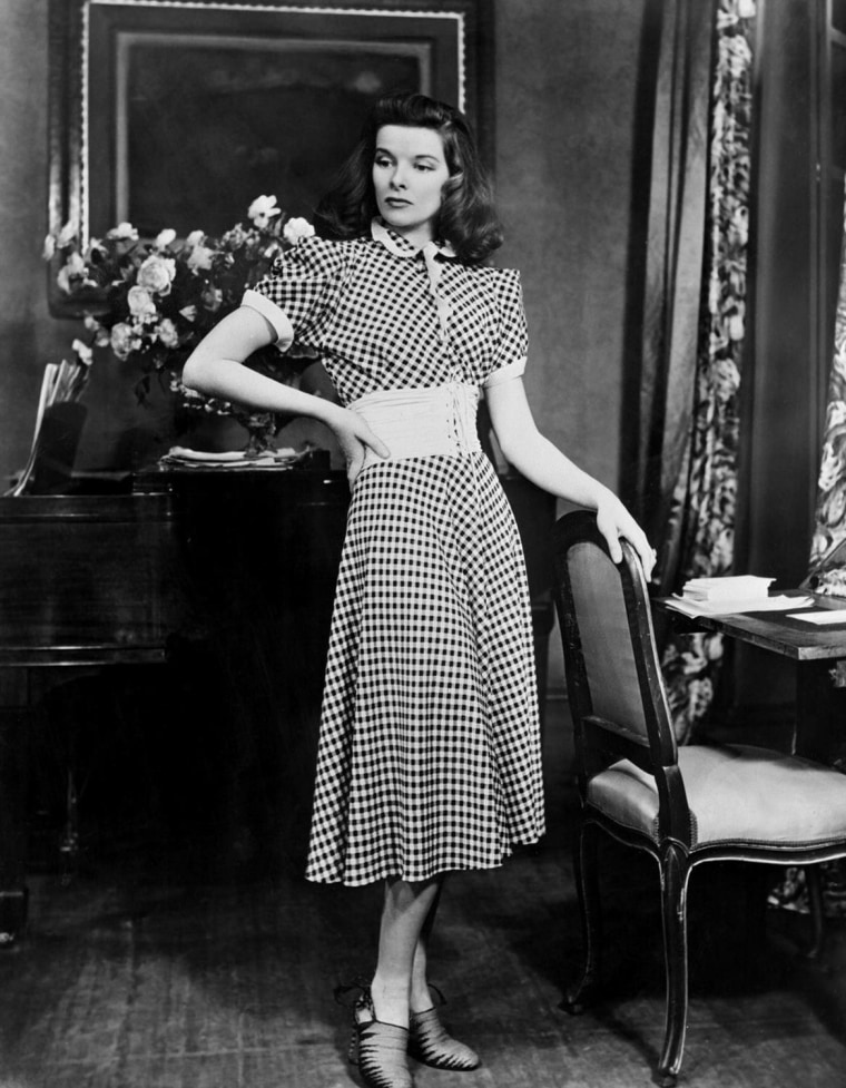 "Katharine Hepburn in the Broadway stage production of ""The Philadelphia Story,"" 1940."