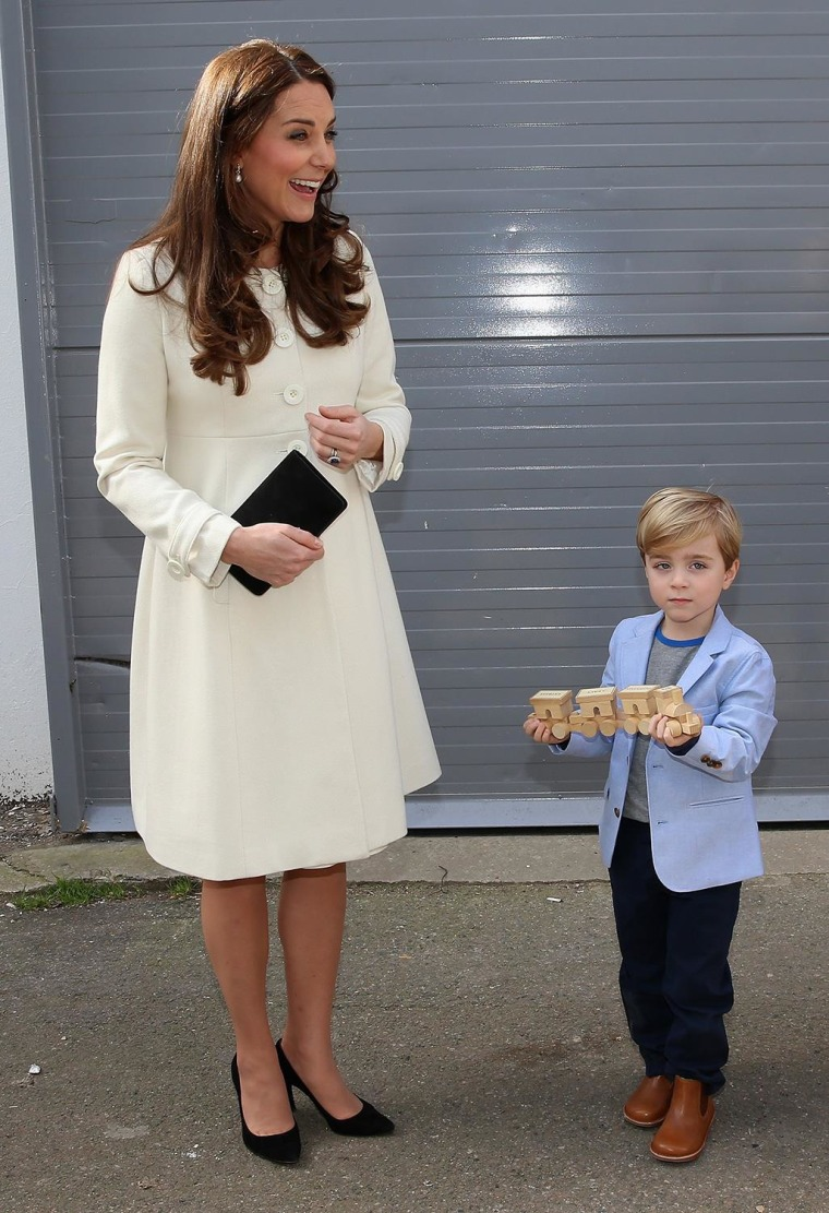 Image: The Duchess Of Cambridge Visits The Set Of Downton Abbey At Ealing Studios