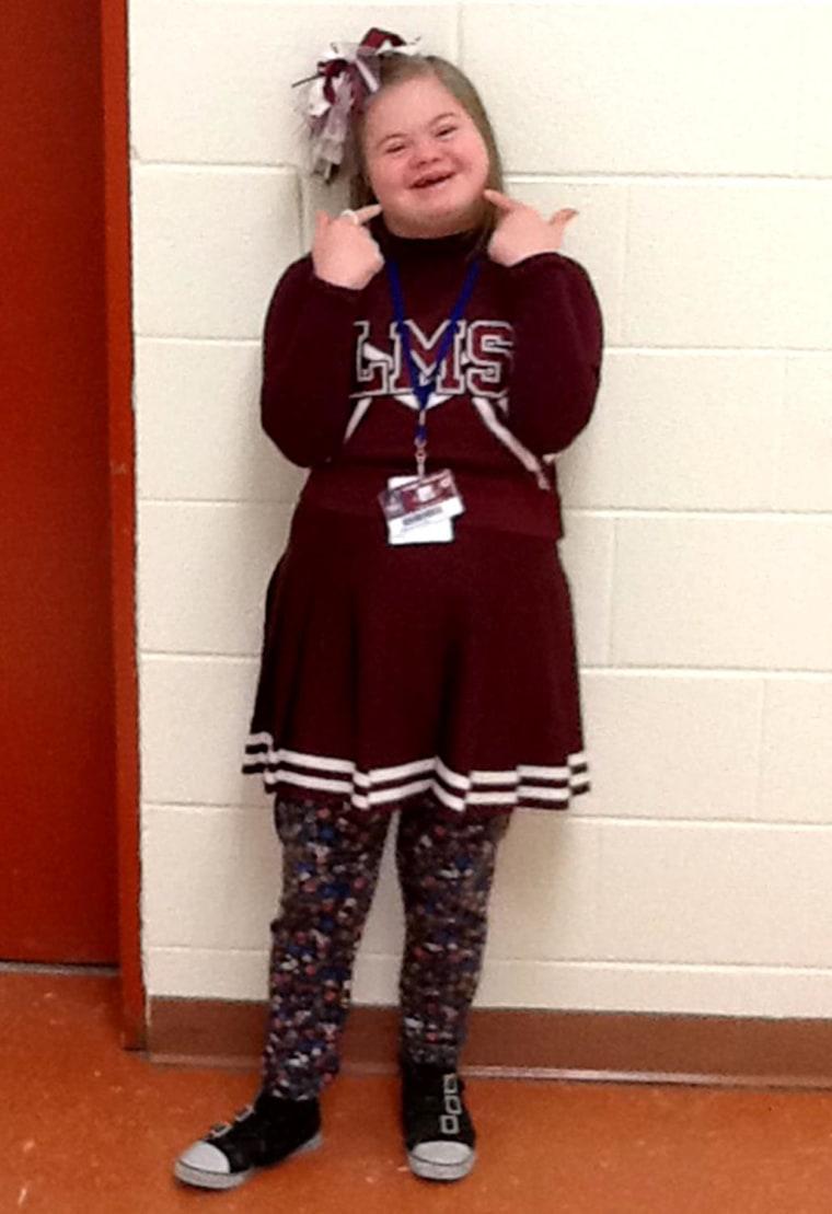 Cheerleader Desiree Joy Andrews