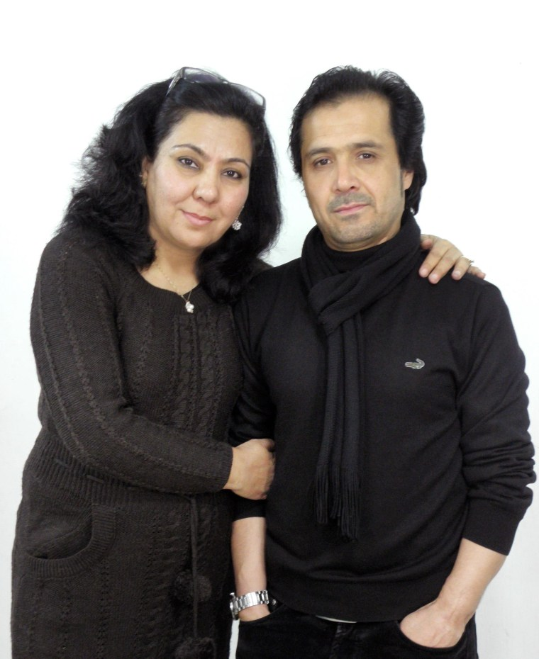 Fauzia Din, 44, with her husband Kanishka Berashk. The U.S. denial of a visa to Berashk has meant the couple has been unable to live together in California since their marriage in 2006.