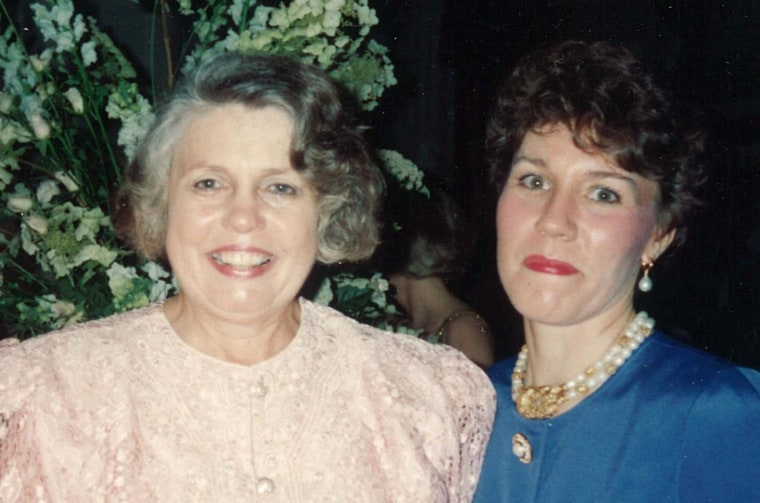"""Mary Dye and her mother, Ann Richards Harris Wood, in the 1980s – before internal family fights over how to handle her mom's Alzheimer's disease """"ruined all the relationships,"""" Dye said."""
