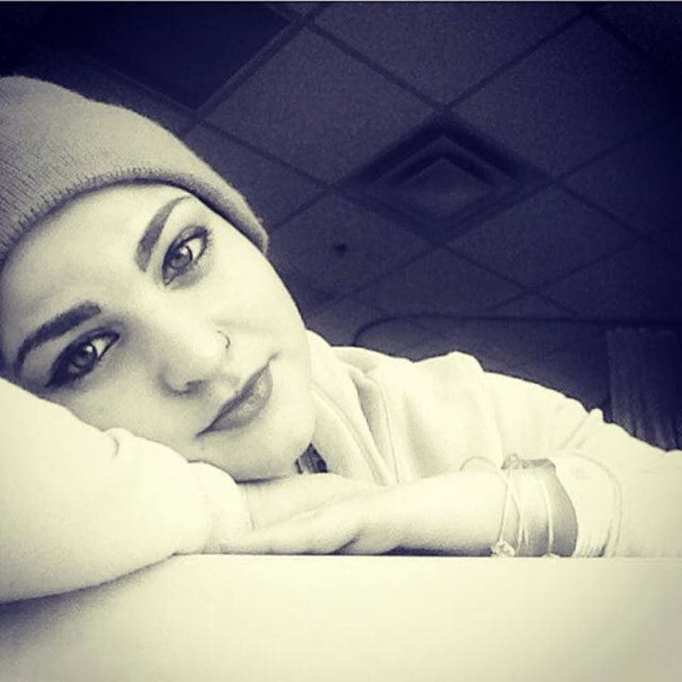 Cassandra C., 17, in a self-taken image at Connecticut Children's Medical Center in Hartford.