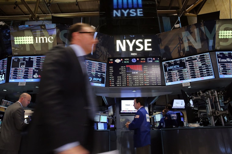 Stocks tumbled on Tuesday, with the Dow shedding 200 points in hectic trade.