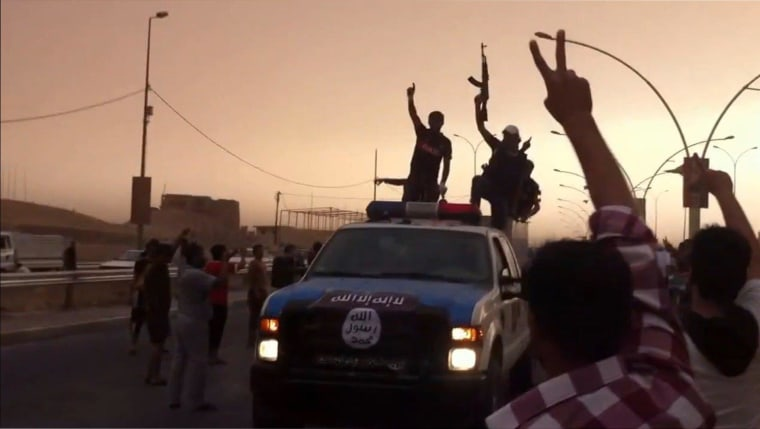 Image: Screenshot taken from a YouTube video purportedly showing Islamic State of Iraq and the Levant (ISIL) militants
