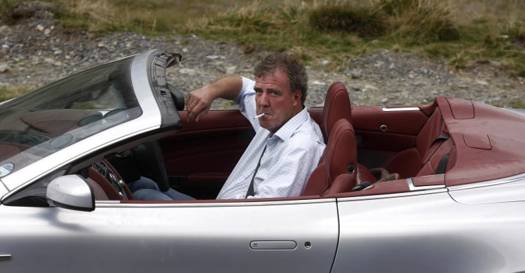 "Image: British television BBC presenter of motor show ""Top Gear"" Jeremy Clarkson"